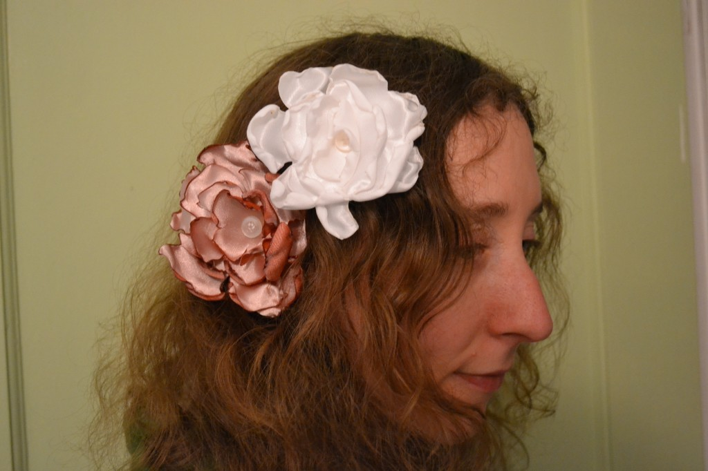 handmade flowers in hair