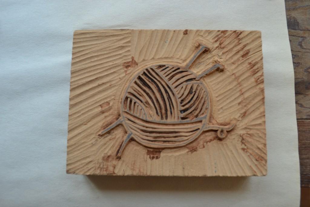 yarn block print