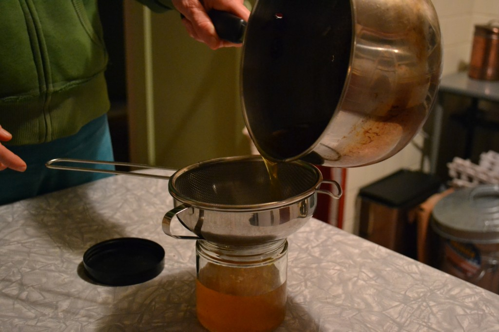 pouring ghee