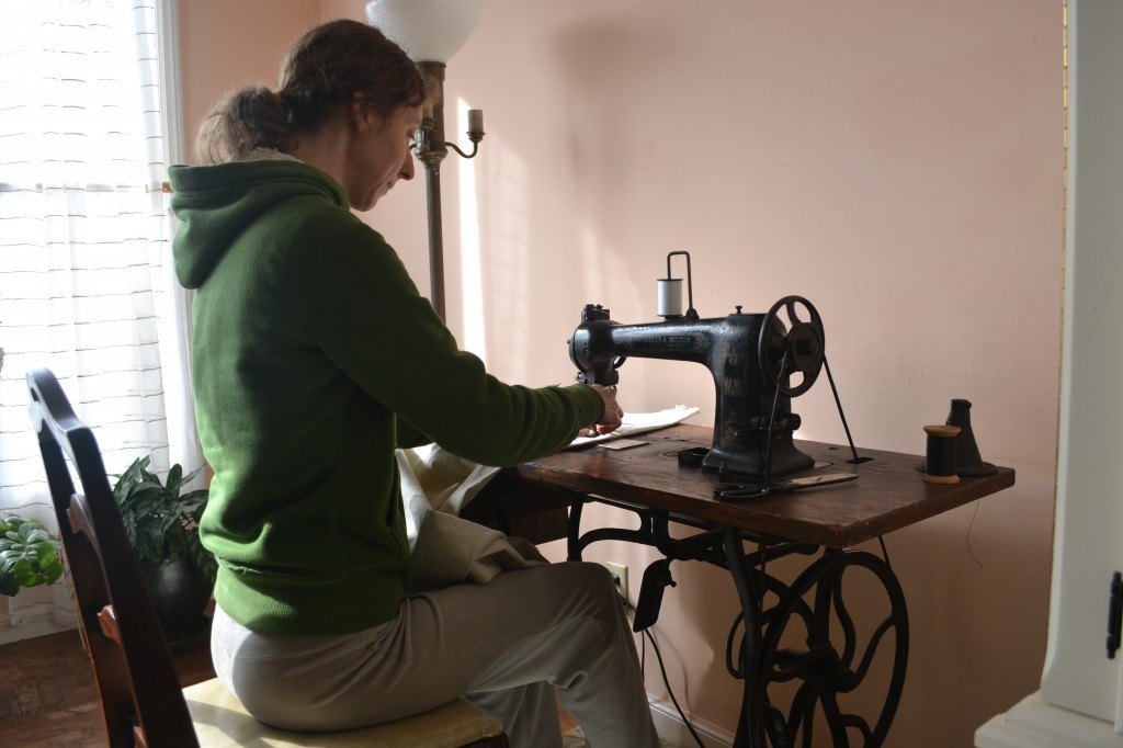 sewing on treadle