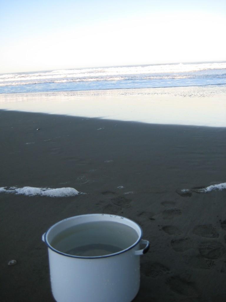 pot at beach