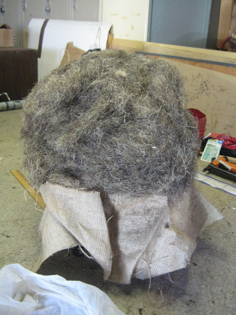 footstool horse hair
