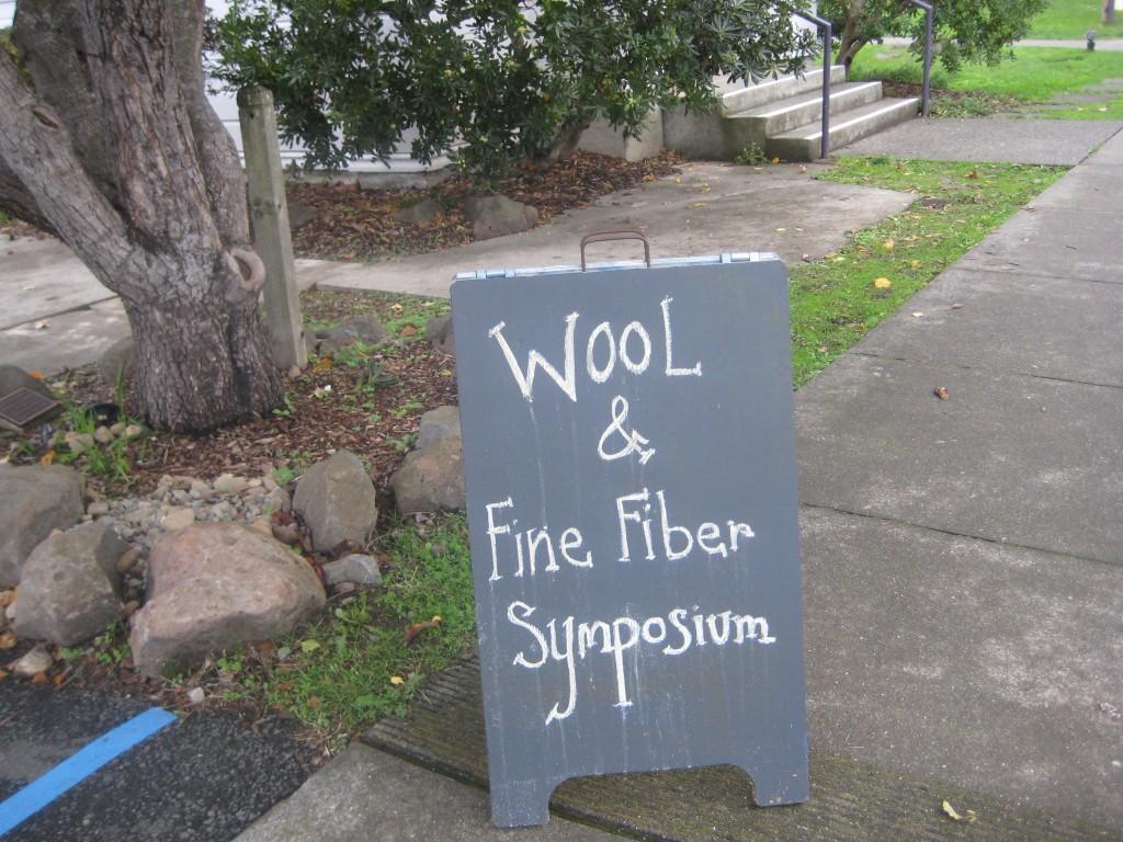 Fiber Symposium sign